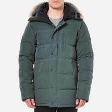 canada goose men s carson down filled parka jacket slate free