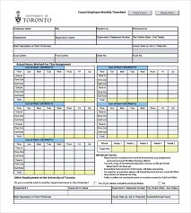 Hourly Timesheet Template Excel Sle Payroll Timesheet 7 Documents In Pdf Word