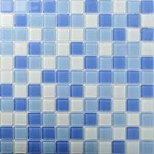Crystal Glass Tiles Blue Glass Mosaic Tile Sea Glass Backsplash - Sea glass backsplash