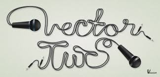 vector typography tutorial a microphone illustration and cable text effect
