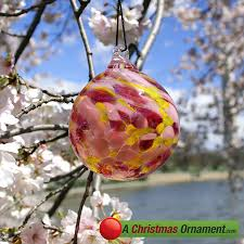 ornaments made in usa cherry blossom glass