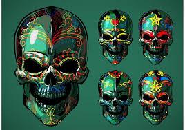 dia de los muertos sugar skulls dia de los muertos sugar skull vectors free vector