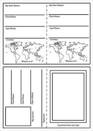 free passport booklet template set includes 3 page templates you
