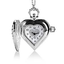 pocket watch necklace wholesale images Wholesale heart shaped pocket watch women quartz watches with jpg