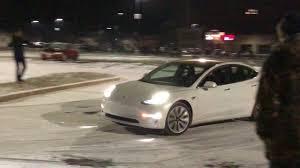 tesla model 3 in snow youtube
