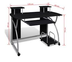 bureau 120 cm studenten computer bureau 120 x 60 cm zwart kopen vidaxl nl