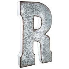 metal letters wall decor wall metal letter galvanized r large galvanized metal letter matt routzan pinterest metals