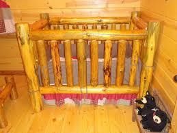 fantastic rustic ba crib furniture made of nature log decofurnish