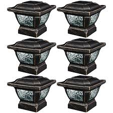 Paradise Solar Lights Costco by Amazon Com Paradise Gl28998bz Solar Cast Aluminum Led Post Cap