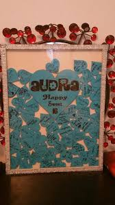 sweet 16 sign in book guest book alternative shadow box sign j j wedding