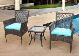 Garden Patio Table Patio Furniture 3 Rattan Outdoor Set Wz Two Wicker Chairs