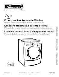 kenmore washer 110 user guide manualsonline com