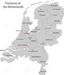 netherlands map cities gray netherlands map with regions and cities royalty free
