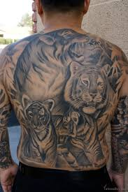 beautiful tiger on back designs pictures