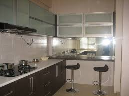 kitchen modern glass kitchen cabinet doors table linens