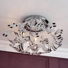 flush ceiling lights living room twirl semi flush ceiling light 6 light chrome