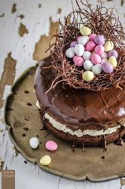 cake top easter egg nest cake chew town food