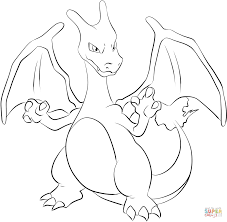 pokemon charizard coloring pages charizard coloring free