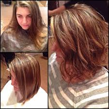 short hairstyles with blonde and red highlights women medium haircut