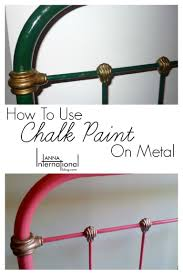 how to use chalk paint on metal antique french cast iron bed