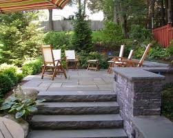 Remodel Backyard Stone Backyard Patio Interior Home Design