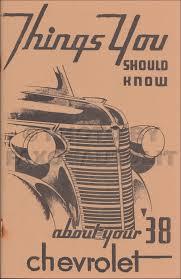 1938 chevrolet repair shop manual reprint chevy truck car pickup
