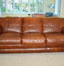 Saddle Brown Leather Sofa Distinctions Saddle Leather Sofa Ebth