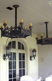 Ceiling Fans With Chandeliers Potter Metal Studios Custom Lighting And Ornamental Ironwork
