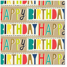 wrapping papers colorful block lettering happy birthday wrapping paper roll