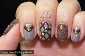vic and her nails born pretty store mix geometric shape studs
