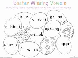 easter alphabet vowels alphabet easter and activities for