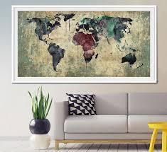 large wall world map large large world map