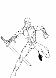 gi joe coloring pages snake eyes for shimosoku biz