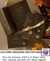 autumn wedding invitations autumn wedding invitations