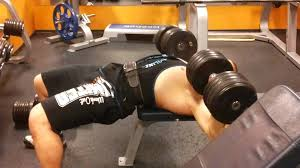 50kg dumbell bench press youtube