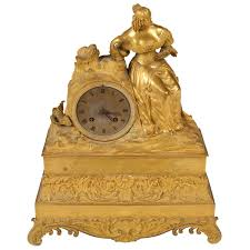 Metal Mantel Clock French Empire Ormolu Mantle Clock For Sale At 1stdibs