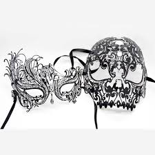 masquerade masks for women aliexpress buy black swan venetian metal filigree mask men