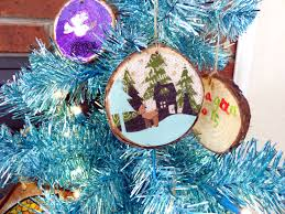 inky designs diy wood slice ornaments with resin