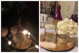Vases With Flowers And Floating Candles Wediquette And Parties Diy Hydrangea Wedding Centerpieces