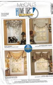 mccalls pattern 3632 swags and valance window treatment easy