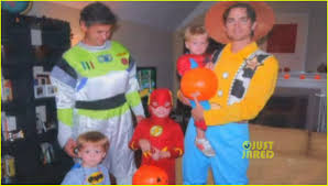 celebrity family halloween costumes matt bomer shares adorable family photo from halloween photo