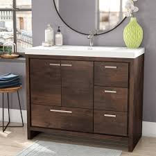 41 Bathroom Vanity Almendarez Free Standing Modern 41 Rectangular Single Bathroom