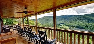 cabin porch deck porch tour above the clouds cabin blue ridge ga