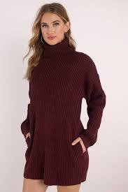 maroon sweater dress turtleneck sweater dress shop turtleneck sweater dress at tobi