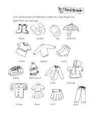 english teaching worksheets clothes bingo