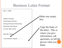 layout of business letter writing letter writing communication skills