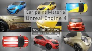 Car Paint by Advanced Car Paint Material In Unreal Engine 4 Available For