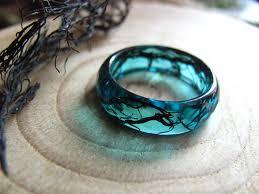 resin necklace designs images Mermaid ring ocean resin ring nature ring mermaid jewelry jpg