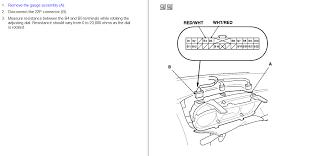 honda instrument cluster wiring diagram honda wiring diagrams