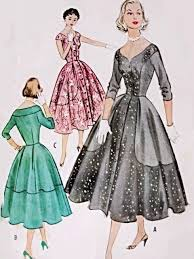 v shaped dress pattern 1950s stunning cocktail party evening dress pattern almost off